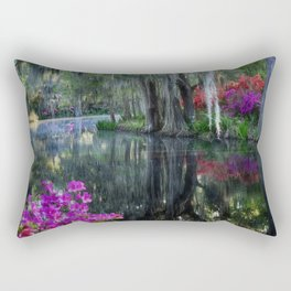 Azaleas and Spanish moss at Big Cypress Pond Rectangular Pillow