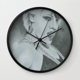 Pink I Wall Clock