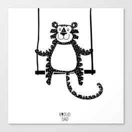 Tiger on the swing Canvas Print