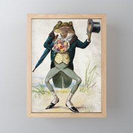 Gentleman Frog by George Hope Tait Framed Mini Art Print