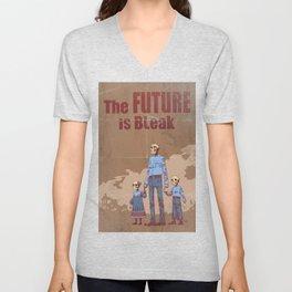 The Future is Bleak Propaganda Unisex V-Neck