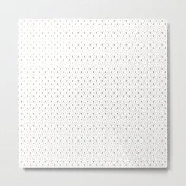 Minimal Gold Polka Dots Metal Print