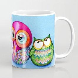 Crazy Owl Family  Coffee Mug