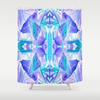 crystal Shower Curtains featuring Crystal by Cs025