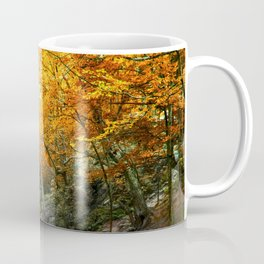 Autumn Forest Waterfall Coffee Mug