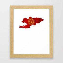 Best Kyrgystan design online Framed Art Print