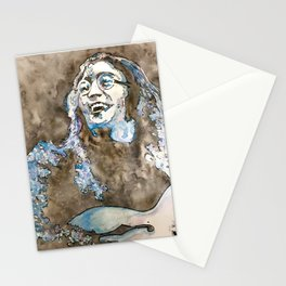 Rooftop John Watercolor Stationery Cards