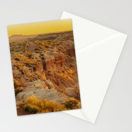 Blue Mesa Trailhead at Petrified Forest National Park Stationery Cards