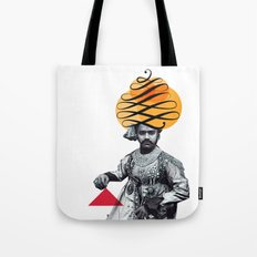 Lettering is a Maharaja's turban Tote Bag