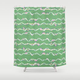 City lines Shower Curtain