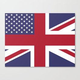 United States and The United Kingdom Flags United Forever Canvas Print