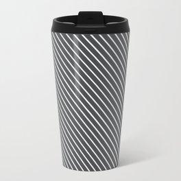 Dark Shadow Stripe Travel Mug