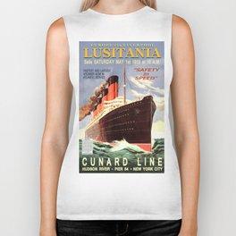 Vintage poster - Lusitania Biker Tank