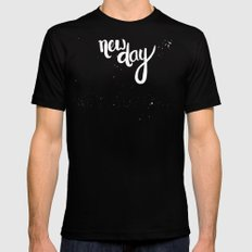 NEW DAY Mens Fitted Tee Black MEDIUM
