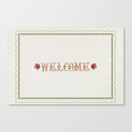 Welcome 2 - Vintage By Totlia Canvas Print