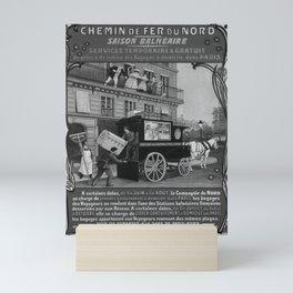 placard NORD Saison Balneaire Mini Art Print