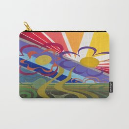 Flower Horizon Carry-All Pouch