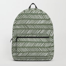 Fir Tree Green Small Herringbone Drawing Backpack