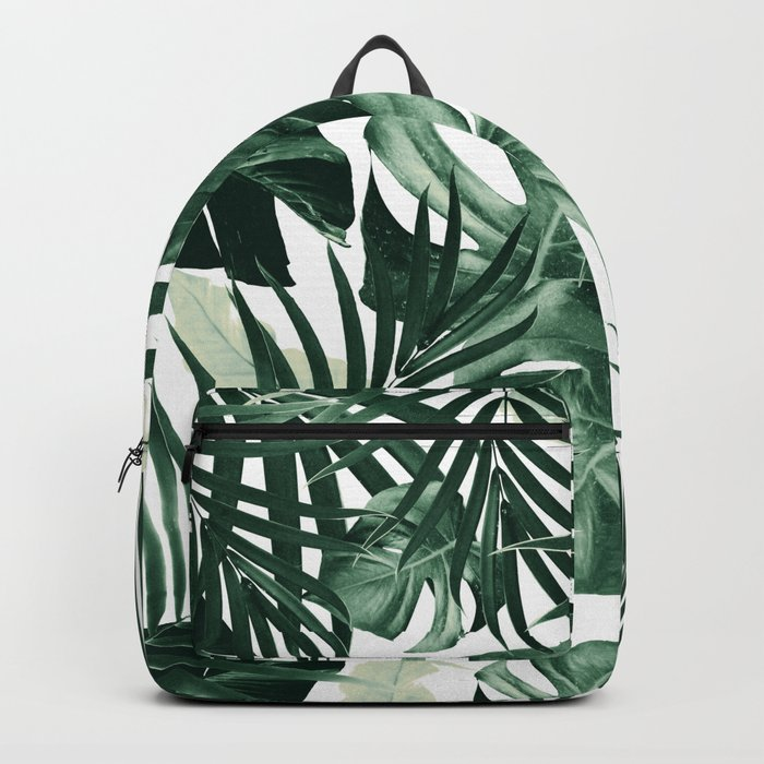 Tropical Jungle Leaves Pattern #4 #tropical #decor #art #society6 Backpack