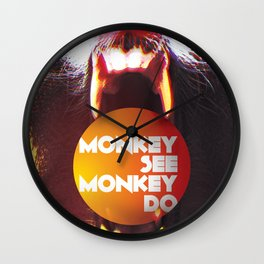 Monkey see Monkey do Wall Clock