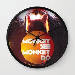 Monkey see Monkey do Wall Clock
