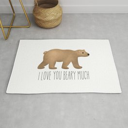 I Love You Beary Much Rug