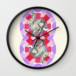 the entire universe may be infinite | rose city Wall Clock