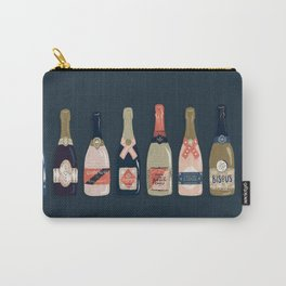 French Champagne Collection – Teal Carry-All Pouch