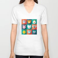 jazzberry V-neck T-shirts featuring PET PARADE by Daisy Beatrice