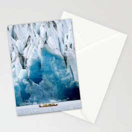 Ride to the Alaskan Glacier Stationery Cards