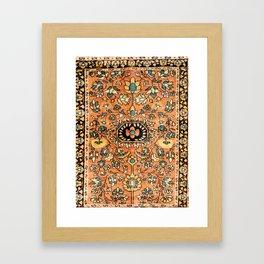 Sarouk Poshti Vintage Persian Rug Print Framed Art Print
