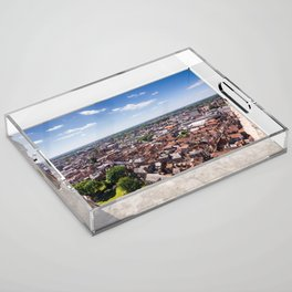 View of York from York Minster Cathedral tower Acrylic Tray