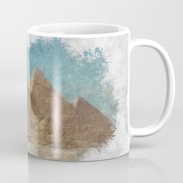 UFO Over Pyramids Coffee Mug