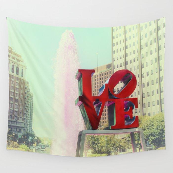 Philadelphia Love Wall Tapestry