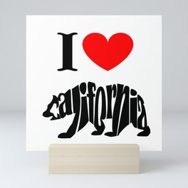 I love California Mini Art Print