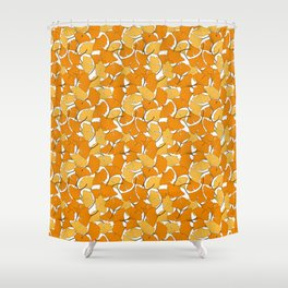 ginkgo leaves (orange) Shower Curtain