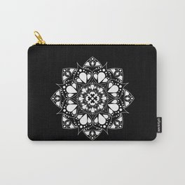 Mandala Black and White Magic Carry-All Pouch