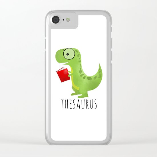 Thesaurus Clear iPhone Case