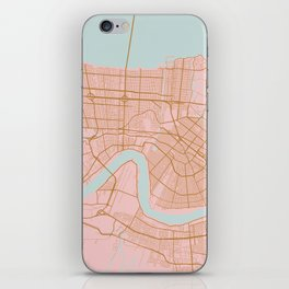New Orleans map, Lousiana iPhone Skin