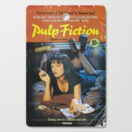 Pulp Fiction Movie Poster, Written And Directed By Quentin Tarantino Artwork, Posters, Prints, Tshir Cutting Board