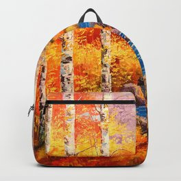 Birch at a stream Backpack