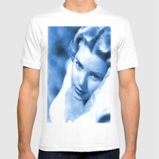 Grace kelly 3 Mens Fitted Tee MEDIUM White