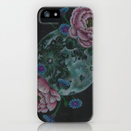 Flower Full Moon (May) iPhone Case