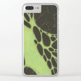 Green Memories Clear iPhone Case