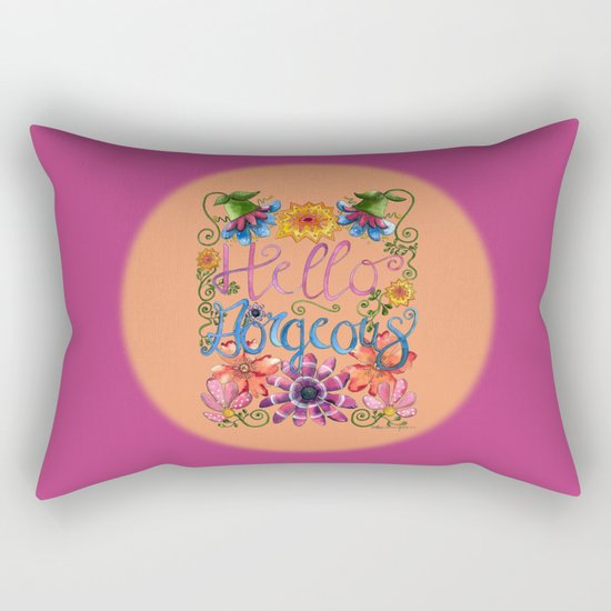 Hello Gorgeous 2 Rectangular Pillow