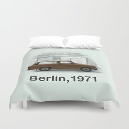 A Trabbi in Berlin Duvet Cover