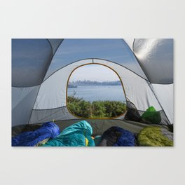 Downtown San Francisco from the tent Canvas Print