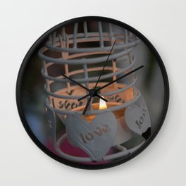 Love candle light Wall Clock
