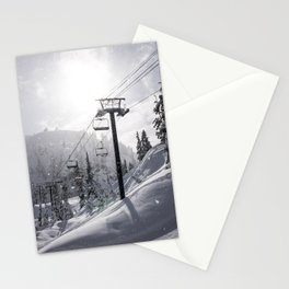 Mt Baker Ski Lift Stationery Cards