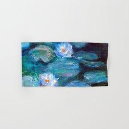 Blue Water Lilies Hand & Bath Towel